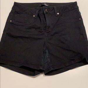 Black 4inch Denim Shorts